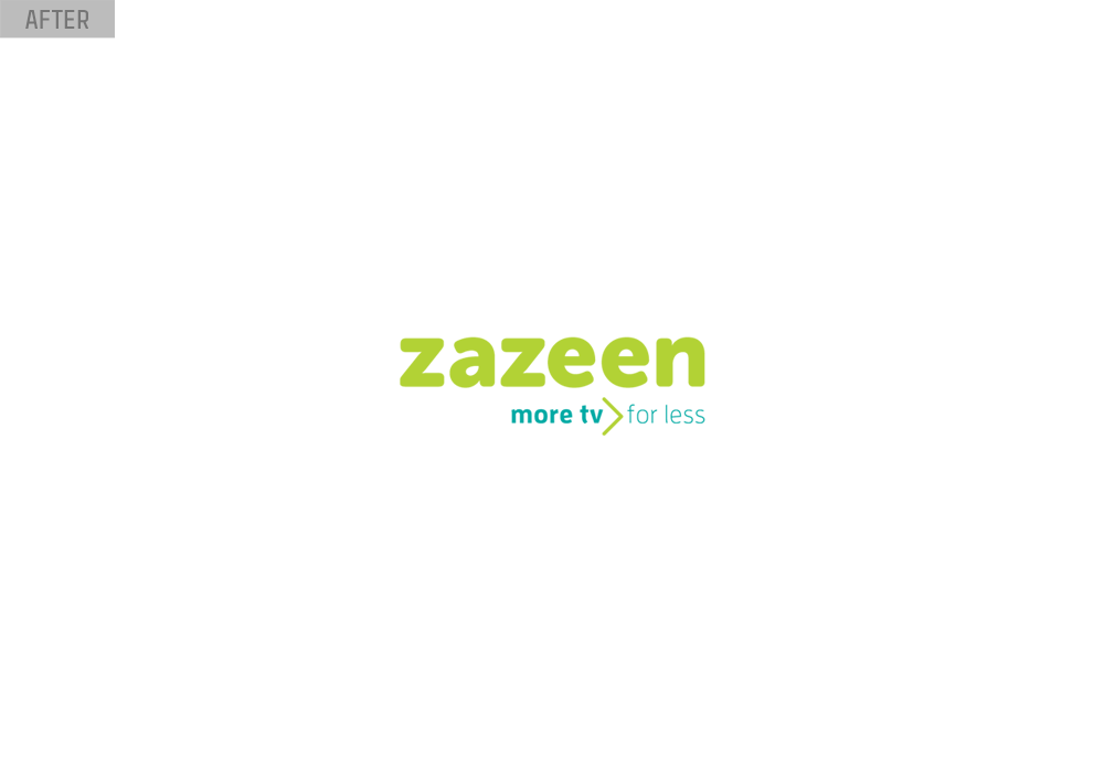 zazeen tv logo design after