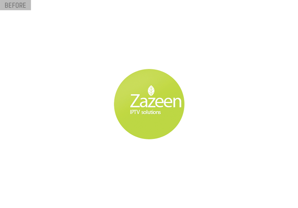 zazeen tv logo design before